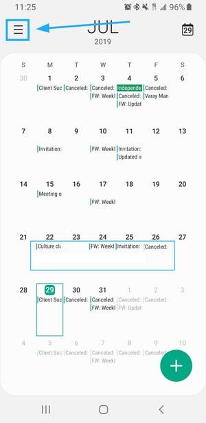 Calendar Menu Tab -  Varay Managed IT