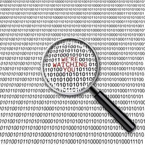 Binary code saying Facebook and Google are watching you   Varay, El Paso