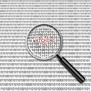 Binary code saying Facebook and Google are watching you | Varay, El Paso