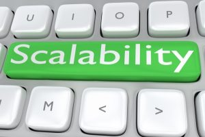 Computer button that says scalability for scalable IT service | Varay, El Paso