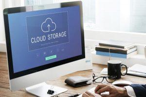 Computer screen with cloud storage icon   Varay, El Paso