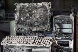 burned personal computer | Varay, El Paso