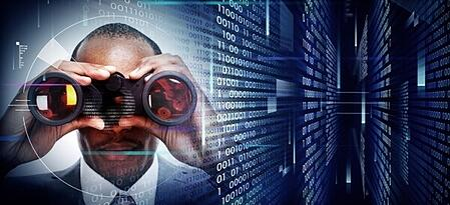 man with binoculars monitoring network | Varay Managed IT