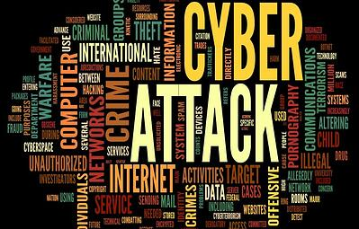 This is a word cloud showing the most commonly used words associated with cyber attacks | Varay Managed IT, San Antonio & El Paso